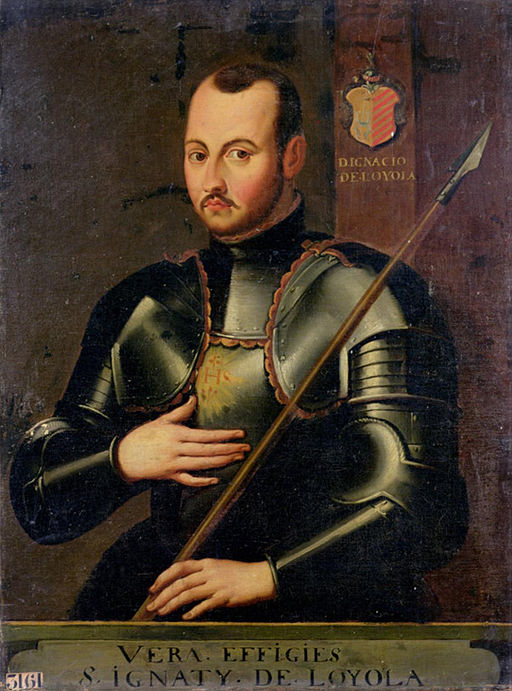 Ignatius of Loyola (militant) By French School, anonymous [Public domain], via Wikimedia Commons