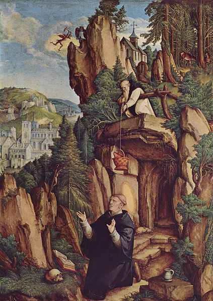 Hl. Benedikt im Gebet, Meister von Meßkirch [public domain] via Wikimedia Commons