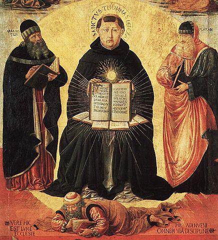 St. Thomas Aquinas' Triumph over Averroes, Benozzo Gozzoli, public domain via Wikimedia Commons