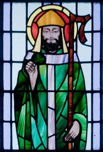 St Patrick, Kilbennan St. Benin's Church Window, wikimedia commons, used under cc license