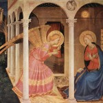 The Annunciation (detail), Fra Angelico, public domain via Wikimedia Commons
