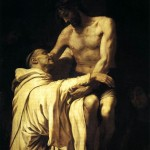 Francisco Ribalta - Christ Embracing St Bernard; public domain via Wikimedia Commons