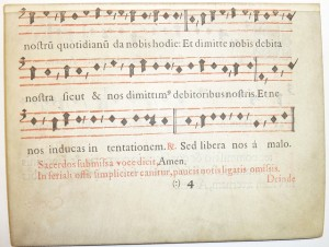 Early printed parchment leaf, probably from a missal, by POP, cc license