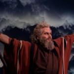 Charlton Heston in The  Ten Commandments film trailer, public domain via Wikimedia Commons