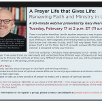 """Join Me for My First Webinar! """"A Prayer Life that Gives Life"""""""