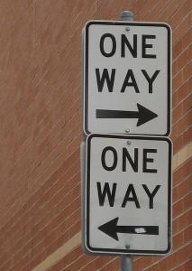 One way, by mollybob, cc on flickr