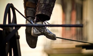 Feet of a Tightrope Walker, cc by Wiros-SA 2.0